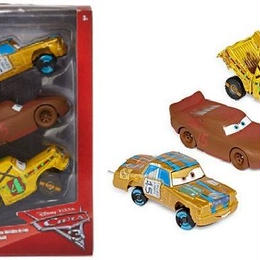 ディズニー・ピクサー カーズ  クロスロード CARS3 1/43 3PC T-Bone,Chester Whipplefillter& Taco