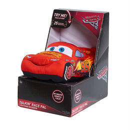 ディズニー・ピクサー カーズ  クロスロード  口を動かしながらしゃべるライトニング・マックイーンのぬいぐるみ Talking Race Pals Lightening McQueen Plush