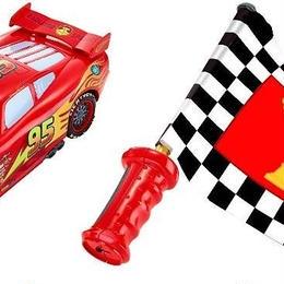 ディズニー・ピクサー カーズ 2  旗を振ってコントロールするインタラクティブ ライトニング・マックイーン Flag Finish Lightning McQueen