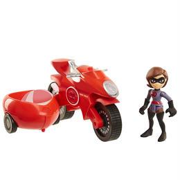 インクレディブル・ファミリー イラスティサイクル&イラスティガール プレイセット  Elasticycle & Elastigirl Vehicle Playset