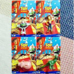 トイストーリー 1995年デッドストック 未開封  Think Way Toys フィギュア 4体 バズ・ライトイヤー ウッディ ハム レックス