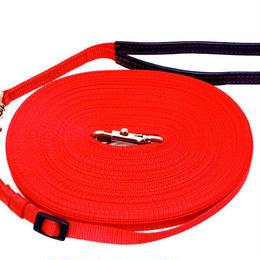 小型犬用 12mm幅 長さ調節可能ロングリード 25m 全10色(持ち手革付き)