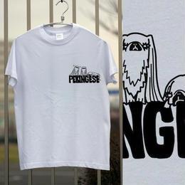 ペキニーズのワンポイントプリントTシャツ