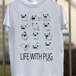 パグヲの日常 プリント ライトオンスTシャツ