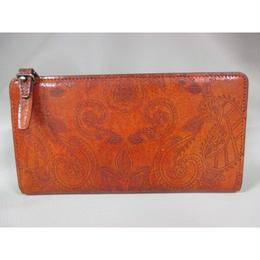 イタリア革 プッチーニ社製 レーザー加工革・L型ジッパー長財布