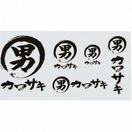 男カワサキステッカーキット(抜き文字)B