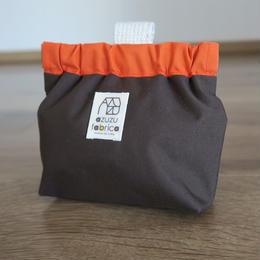防水トリーツポーチ(ブラウン×オレンジ)