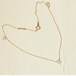 Skyblue Topaz Necklace (K10YG)