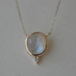 Labradorite diamond necklace