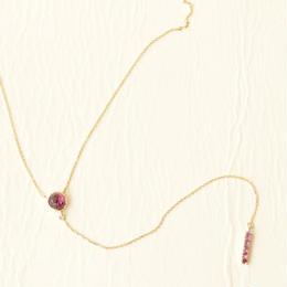 Rhodolite Garnet Necklace (K10)