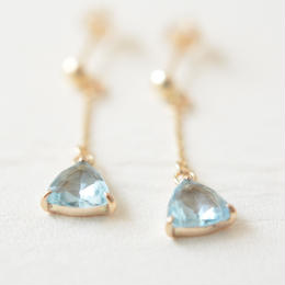Blue topaz pierce