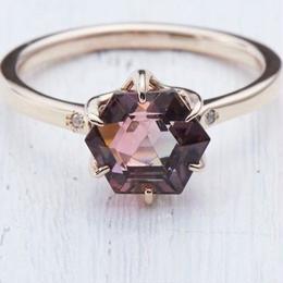 tourmaline diamond ring size#11