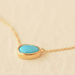 Turquoise Necklace (K18)