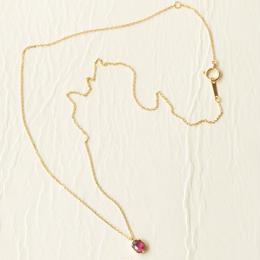 ruby necklace(K18YG)