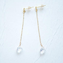 white topaz Pierce (K18YG)