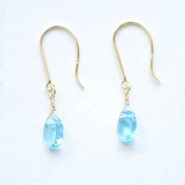 Blue topaz pierce(K18YG)