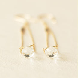 white topaz long pierce