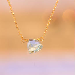 Blue Topaz Necklace (K10YG)