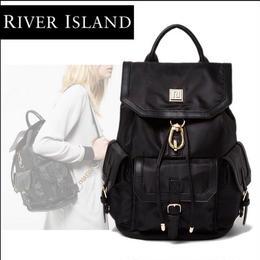 River Island    大人のきれいめシンプル◆RIロゴ フラップポケット バックパック