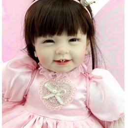 新品 妖精の羽根♪ プリンセス お姫様 天使 ロングヘア 女の子 リボーンドール 赤ちゃん人形 ベビー人形 トドラー人形 ハンドメイド 美少女