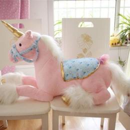 ユニコーン ぬいぐるみ 90cm 巨大 ビッグサイズ 馬 人形 ドール クッションかわいい 子ども 孫 プレゼント 高級タイプ ピンク