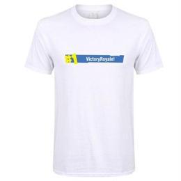 フォートナイト プリントTシャツ ユニセックス カジュアル半袖Tシャツ トップス ホワイト2