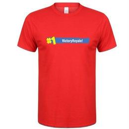 フォートナイト プリントTシャツ ユニセックス カジュアル半袖Tシャツ トップス  レッド2