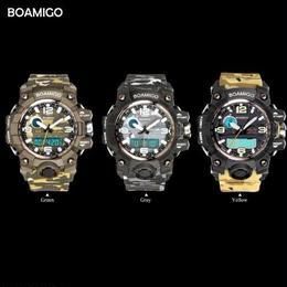 メンズ スポーツ腕時計 boamigo LED デジタル腕時計 ミリタリー クォーツ ラバーストラップ 50M防水 日本未入荷