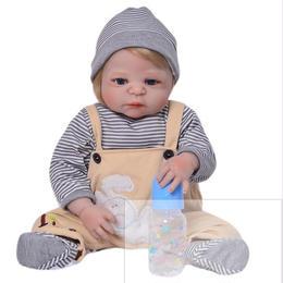 シリコン製 リボーンドール ベビー人形 ベビードール リアル赤ちゃん人形 抱き人形 お風呂可能♪ 高級海外ドール 約55cm ぱっちり男の子