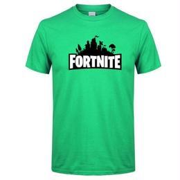 フォートナイト プリントTシャツ ユニセックス カジュアル半袖Tシャツ トップス  グリーン1