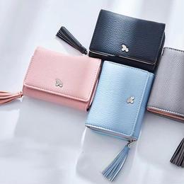 レディース二つ折り財布 海外ブランド WEICHEN 高品質 カードホルダー タッセルチャーム付き