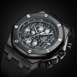 海外高級ブランド メンズクォーツ時計 クロノグラフ ラバーストラップ 海外人気商品