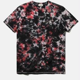 抽象スカイ染色 コットンTシャツ