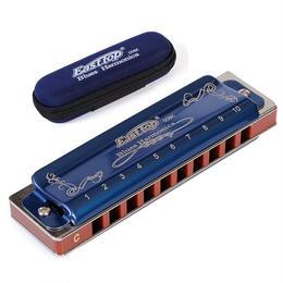 ハーモニカ 10穴 C D E F G A Bキー ブルー 箱付き ブルースハープ 特殊