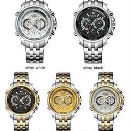 腕時計 メンズ 海外ブランド TEMEITE ステンレス ファッションスポーツ 3ATM防水 クォーツ