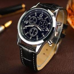 メンズ腕時計 ラグジュアリー ブランド クォーツ YAZOLE ファッション レザーベルト スポーツ腕時計relogio 男性