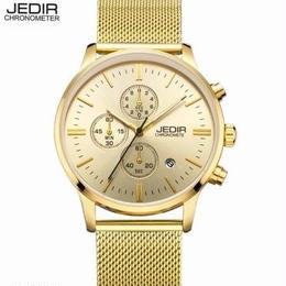 日本未入荷 海外ブランド JEDIR メンズ腕時計 ラグジュアリー クロノグラフ クォーツ 3ダイヤル スポーツ ミリタリー メッシュ