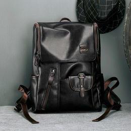 Y-bag★LieLangメンズ格好いいリュック・デイバッグ 14インチPC PU 黒