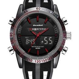 日本未入荷 海外ブランド Readeel ラグジュアリーメンズ腕時計 防水 LED デジタル クォーツ ミリタリー
