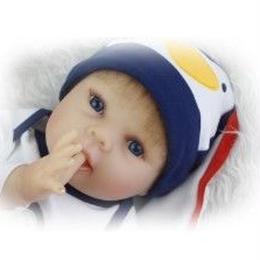 新品 高級 リボーンドール 赤ちゃん人形 ベビー人形 ベビードール 植毛 シリコンリアル ハンドメイド お目目ぱっちり 元気 男の子 哺乳瓶
