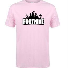 フォートナイト プリントTシャツ ユニセックス カジュアル半袖Tシャツ トップス  ピンク1