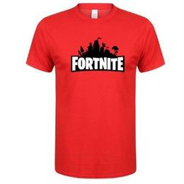 フォートナイト プリントTシャツ ユニセックス カジュアル半袖Tシャツ トップス  レッド1