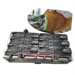 【ギフトがセットのお買い得】アイスコーンたい焼き器 業務用 ホームパーティー 家庭用 110V 6個作成可