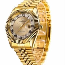 メンズ腕時計 トップブランド ラグジュアリー ステンレスクォーツ 宝石 耐衝撃
