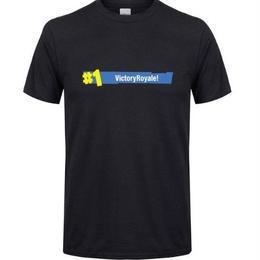 フォートナイト プリントTシャツ ユニセックス カジュアル半袖Tシャツ トップス ブラック2