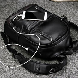 Y-bag★LieLangメンズ多機能リュック・デイバッグ PU 黒
