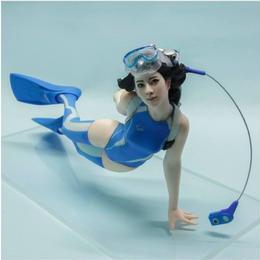 1/10 未塗装フィギュア ダイバー女子 水着 未使用 未組み立て