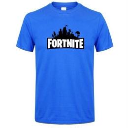 フォートナイト プリントTシャツ ユニセックス カジュアル半袖Tシャツ トップス  ブルー1