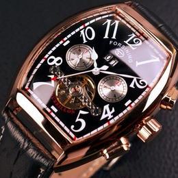 【国内未発売!!5種類ご用意!】 自動巻き腕時計 曜日 日時 クロノグラフ カレンダー 高級 スケルトン時計 メンズ腕時計 高級ブランド