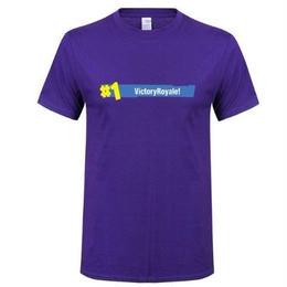 フォートナイト プリントTシャツ ユニセックス カジュアル半袖Tシャツ トップス  パープル2